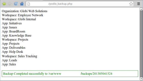 Easy Podio Backup